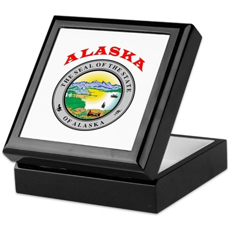 Alaska State Seal Keepsake Box