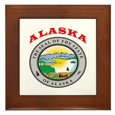 Alaska State Seal Framed Tile