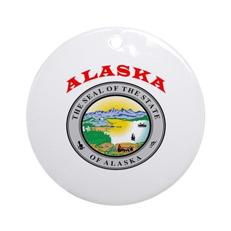 Alaska State Seal Ornament (Round)