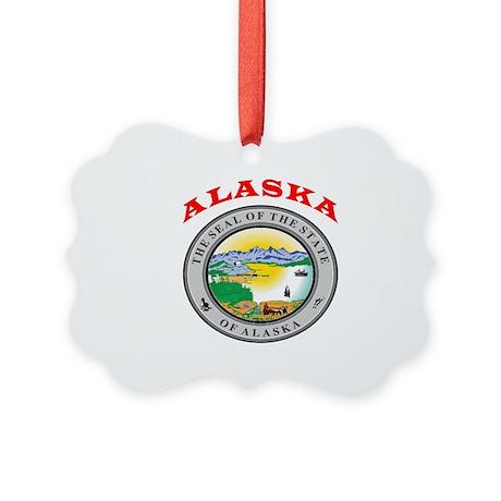 Alaska State Seal Picture Ornament