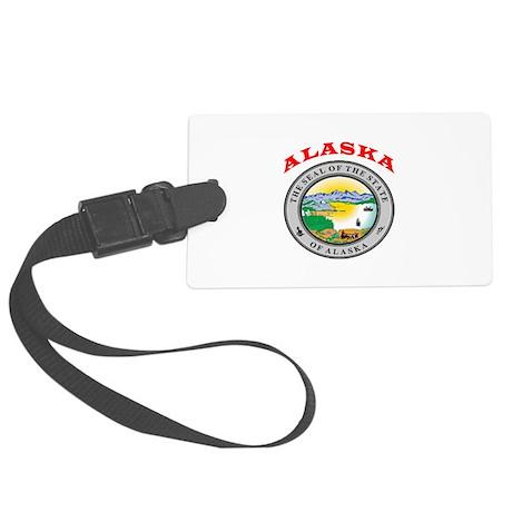 Alaska State Seal Large Luggage Tag
