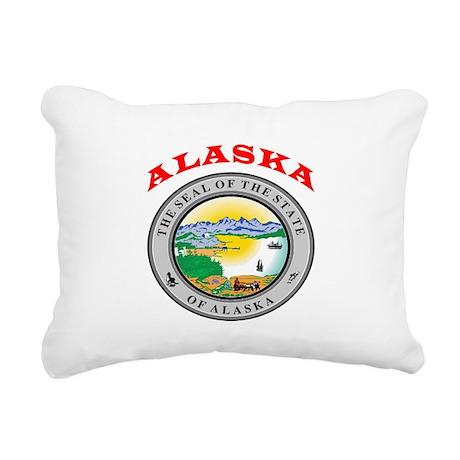 Alaska State Seal Rectangular Canvas Pillow