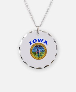 Iowa State Seal Necklace