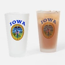 Iowa State Seal Drinking Glass