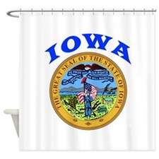 Iowa State Seal Shower Curtain
