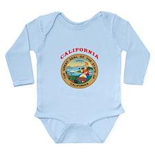 California State Seal Long Sleeve Infant Bodysuit