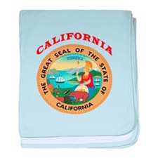 California State Seal baby blanket