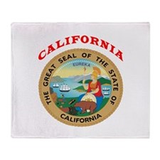 California State Seal Throw Blanket