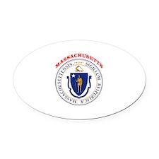 Massachusetts State Seal Oval Car Magnet