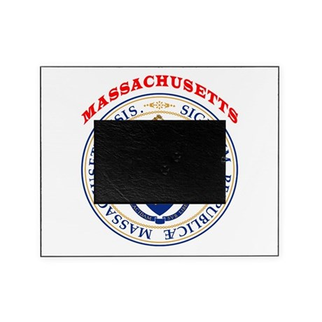Massachusetts state seal picture frame by tshirts4everybody for Massachusetts state seal coloring page