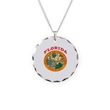 Florida State Seal Necklace Circle Charm