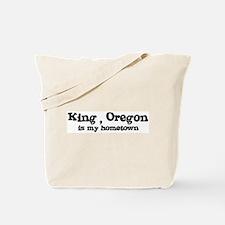 King - Hometown Tote Bag