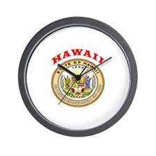 Hawaii State Seal Wall Clock