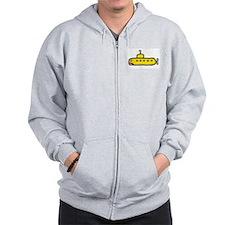 yellow sub Zip Hoodie
