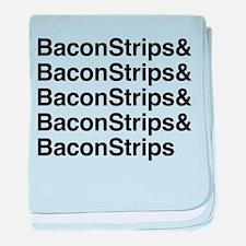Bacon Strips baby blanket