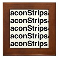 Bacon Strips Framed Tile