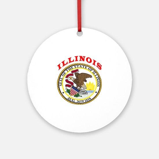 Illinois State Seal Ornament (Round)