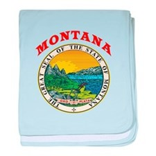 Montana State Seal baby blanket