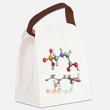 Glyphosate weedkiller molecule - Canvas Lunch Bag
