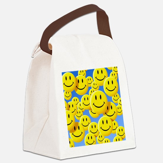 Smiley face symbols - Canvas Lunch Bag