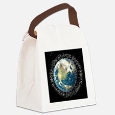 Space junk, conceptual artwork - Canvas Lunch Bag