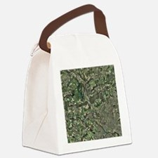 Cardiff, aerial photograph - Canvas Lunch Bag