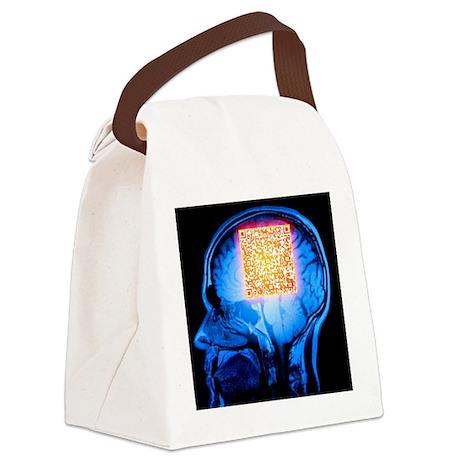 QR code - Canvas Lunch Bag
