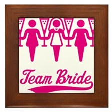 Team Bride (Bachelorette Party), magenta Framed Ti