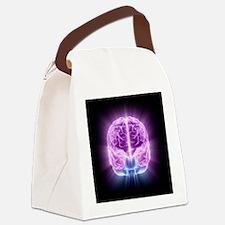 Human brain,computer artwork - Canvas Lunch Bag