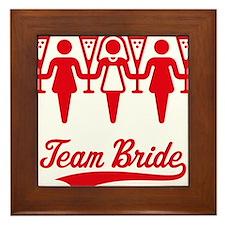 Team Bride (Bachelorette Party), red Framed Tile