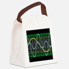 Sound wave, computer artwork - Canvas Lunch Bag