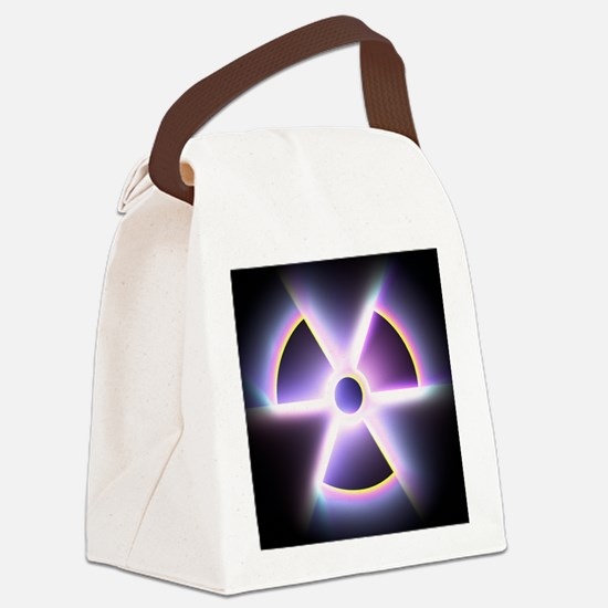 Radiation warning sign - Canvas Lunch Bag