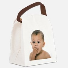Teething baby girl - Canvas Lunch Bag