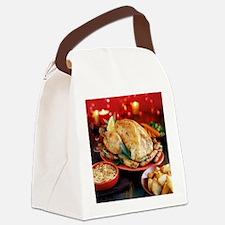 Christmas dinner - Canvas Lunch Bag
