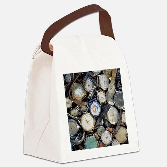 Broken wrist-watches - Canvas Lunch Bag