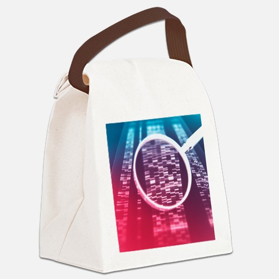 DNA sequencing - Canvas Lunch Bag