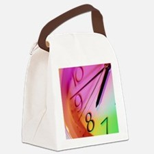 clock showing 7:45 - Canvas Lunch Bag