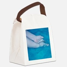 Washing hands - Canvas Lunch Bag