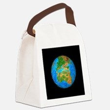 around the earth - Canvas Lunch Bag