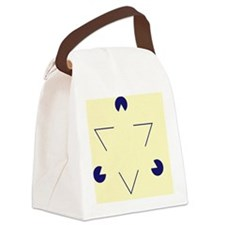 Kanizsa triangle - Canvas Lunch Bag