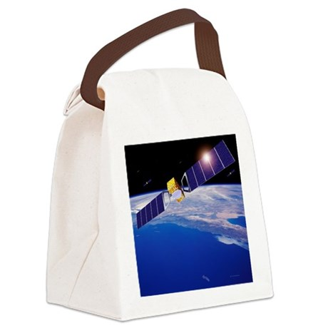 Galileo navigation satellites - Canvas Lunch Bag