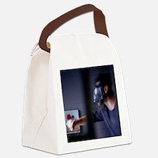 Gas mask emergency - Canvas Lunch Bag