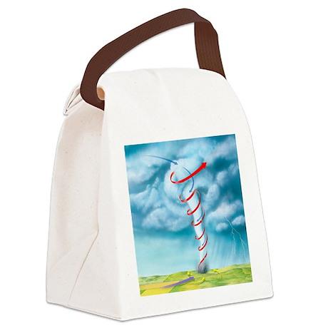 Tornado dynamics, artwork - Canvas Lunch Bag