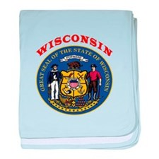 Wisconsin State Seal baby blanket