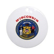 Wisconsin State Seal Ornament (Round)