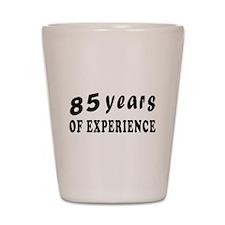85 years birthday designs Shot Glass
