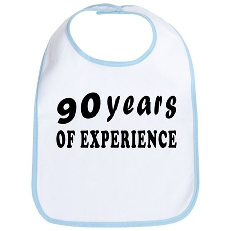 90 years birthday designs Bib