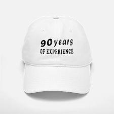 90 years birthday designs Baseball Baseball Cap