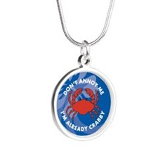 Dont Annoy Me Silver Round Necklace