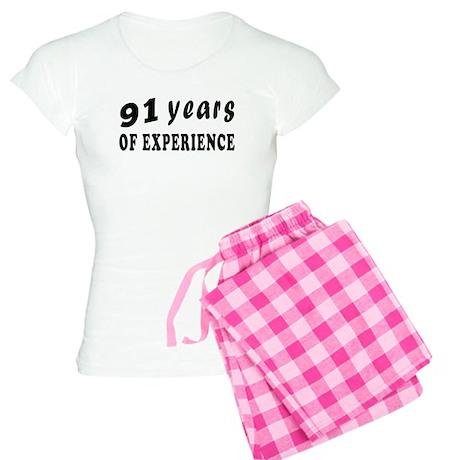 91 years birthday designs Women's Light Pajamas